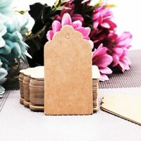 100Pcs/lot  Kraft Paper Tags Christmas Wedding Party Gift Blank Luggage Label