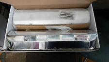 Pontiac V-8 Fabricated Aluminum Tall Valve Covers-1/4 Billet Rail: 400 455