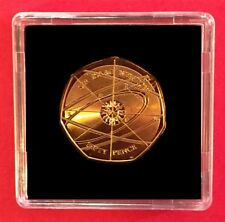 Sir Isaac Newton 50p  Coin 24ct Gold Plated from Sealed Bag  + C.O.A
