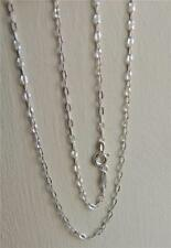 """STERLING SILVER DIAMOND-CUT LINKS NECKLACE CHAIN 46cm / 18"""" by P.LUX ITALY QVC"""
