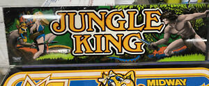 Taito Jungle King 1982 — Original Arcade Game GLASS Marquee