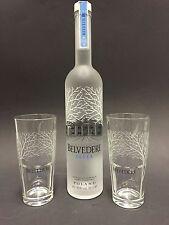 Belvedere Vodka Set 0,7l Flasche + 2 Belvedere Gläser 40%Vol. NEU OVP