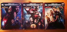 Iron Man 1-3 Steelbook Trilogie   4K UHD Blu-ray   NEU & OVP