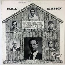 Faril Simpson – Blue Grass Barn Rasin 1978 LP Vinyl Record Bluegrass Album