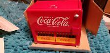 Coca Cola Bottle Musical Coin Cooler Bank Coke Music Enesco 1997 Die Cast
