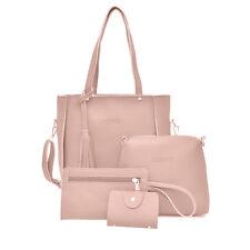 4pcs/set Women Ladies Leather Handbag Shoulder Tote Purse Satchel Messenger Bags
