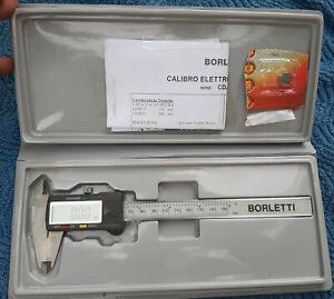 CALIBRO DIGITALE BORLETTI 150mm CDJB15 EXTRA PRECISO ELETTRONICO con DISPLAY LCD