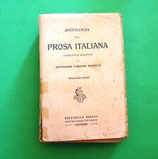 Antologia della Prosa italiana - O. T. Tozzetti - Ed. Giusti 1919