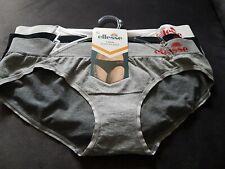 Ellesse 3 pack seamless bikini briefs XL white  Black and Grey bundle set new