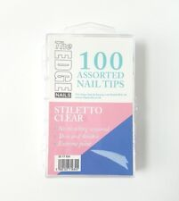 The Edge Nail Clear Flexible Stiletto Tips 100 Assorted