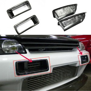 For Nissan GTR R32 FRP Unpainted N1 NSM Front Bumper Vent Air Duct Cover Trim