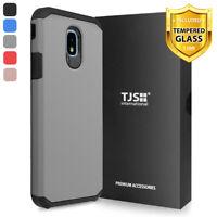 For Samsung Galaxy J7 Crown, Star, J7 V 2018 Case TJS Herculus +Tempered Glass
