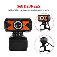 16 Megapixel HD Webcam Web Cam Camera & Microphone Mic  Clip For PC Laptop Skype