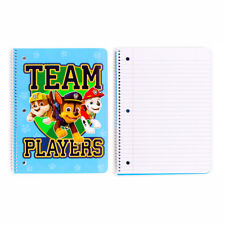 2 Paw Patrol Team Players School 1-Subject Spiral Theme Book 50 sheets Notebooks