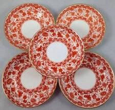 Red British Royal Crown Derby Porcelain & China Tableware