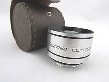 Vintage Gruenex Telephoto 35mm Lens with original Leather Case