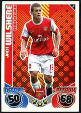 JACK Wilshere Arsenal #10 TOPPS MATCH ATTAX 2010-11 Scheda di calcio (C602)