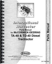 International Harvester Crawler Parts Manual Ih P Ta40td40