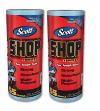 2 Rolls Scott Shop Original 110 Towels Heavy Duty Auto Kitchen Cleaning Cloths