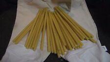 """Bee's Wax Sticks 1/4"""" OD 5"""" to 6"""" Long 100% Pure Bees wax"""