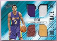 ANTHONY BROWN RC 2015-16 ABSOLUTE TOOLS OF THE TRADE QUAD JERSEY BALL #15/75