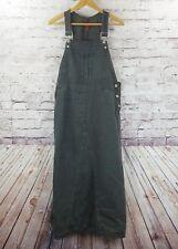 Sundance Catalog Womens Overall Dress Denim Sz 16 L Pinstripe 100% Cotton