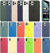 For Apple iPhone 11 Pro Max Xs Max XR SE 7 8 Plus Original Silicone Case cover