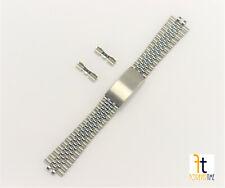 20mm Men's Jubilee Silver Stainless Steel Watch Band Bracelet