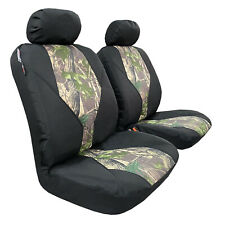 Camouflage Car Seat Cover Green Camo Auto Protectors 4 Piece Set Waterproof