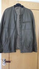 """VINTAGE UNISEX HIGH QUALITY SOFT LEATHER CASUAL OLIVE GREEN JACKET- 42 """" CHEST"""