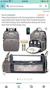 diaper bag backpack black