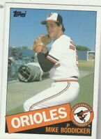 FREE SHIPPING-MINT-1985 Topps #225 Mike Boddicker Orioles PLUS BONUS CARDS