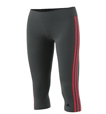 Adidas Training Designed-2-Move 3 Stripe 3/4 Tights BR1778 Gray/Pink Size S $45