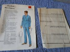 Vintage 1970s Silver Needles sewing pattern No: 15 Men's Pyjamas uncut