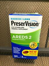 Bausch + Lomb Preservision Areds 2 Eye Vitamins 120 Soft GELS MINI GELS #7627