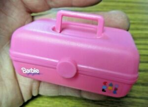 Barbie for Girls Caboodles Glitter Beach Make Up Pink Cosmetic Case Vtg 1990s