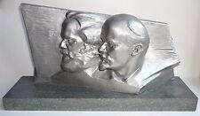 Big Very Rar Russian Soviet statue bust communist LENIN & MARX Propaganda USSR