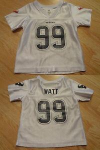 Infant/Baby Girls Houston Texans JJ Watt 18 Mo Jersey (White) Glitter NFL Team A