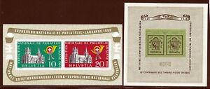 Switzerland Zumstein Blocks #5 + #18 Mint Lightly Hinged... Superb A+A+A+