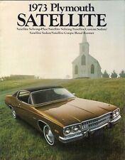 Plymouth Satellite 1973 Stati Uniti del mercato delle vendite BROCHURE Road Runner Custom Sebring