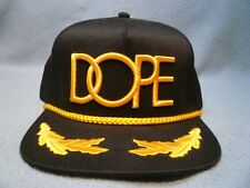 DOPE Gold Captain Snapback BRAND NEW hat cap black & gold military style