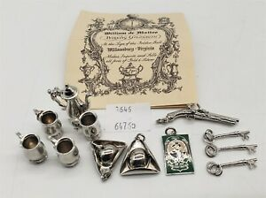 LMAS ~ Silversmith Shops of Colonial Williamsburg Sterling Silver Charms