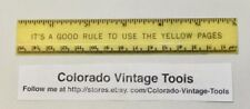 "Vintage 6"" Chesapeake & Potomac Telephone Co. Plastic Advertising Ruler / NR"