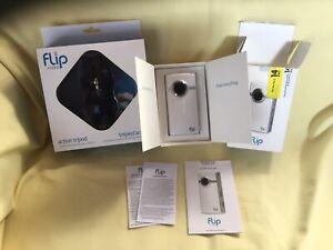 Flip Video Camera Ultra HD, In Box, Action Tripod NiB Excellent Condition