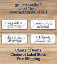 30 Personalized Printed Peel Amp Stick Elegant Script 4 Return Address Labels