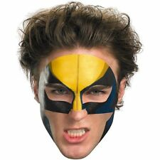 Adult Child  Marvel Comics X-Men Wolverine Super Hero Costume Face Tattoo NEW