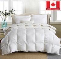 Hutterite / Hungarian / Canadian Standard White Goose down Duvet Comforter