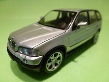 MINICHAMPS  BMW X5 - 2x EXHAUST - SILVER GREY 1:43 - RARE SELTEN - EXCELLENT