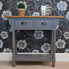 Casamoré Henley 2 Drawer Console Table Vintage Style - Grey