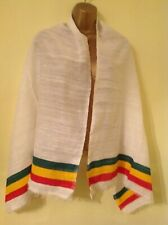 Ethiopian Traditional Netela/Scarves with Rasta color tilet
